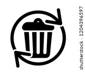 waste recycling icon   vector... | Shutterstock .eps vector #1204396597