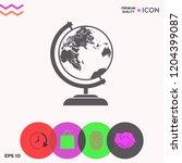 globe symbol icon | Shutterstock .eps vector #1204399087