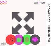 extend  resize icon. cross... | Shutterstock .eps vector #1204399204