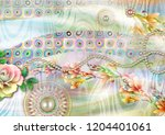 colorful multi effect textile... | Shutterstock . vector #1204401061