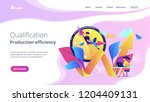 businessman working on clock... | Shutterstock .eps vector #1204409131