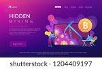 scammer in mask stealing... | Shutterstock .eps vector #1204409197