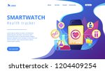 doctor and smartwatch with... | Shutterstock .eps vector #1204409254