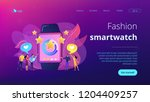 users with hearts like huge... | Shutterstock .eps vector #1204409257