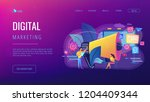 marketing team work and huge... | Shutterstock .eps vector #1204409344