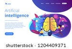 big brain with circuit and... | Shutterstock .eps vector #1204409371