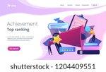 megaphone and businessmen rate... | Shutterstock .eps vector #1204409551