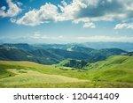 Summer Mountains Green Grass...