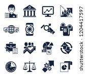 digital vector financial... | Shutterstock .eps vector #1204417597