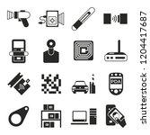 digital vector rfid radio... | Shutterstock .eps vector #1204417687