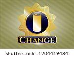 golden badge with soda can... | Shutterstock .eps vector #1204419484