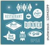 set of vintage u.s.a restaurant ... | Shutterstock .eps vector #120442099