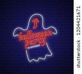 happy halloween party trick or... | Shutterstock .eps vector #1204421671