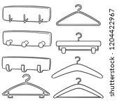 vector set of wall coat rack...   Shutterstock .eps vector #1204422967