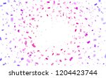 flying pink and purple confetti.... | Shutterstock .eps vector #1204423744
