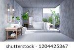 modern loft bathroom interior... | Shutterstock . vector #1204425367
