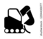vector heavy excavator... | Shutterstock .eps vector #1204430077