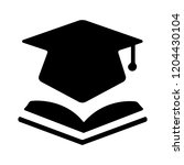 book with vector graduation cap ... | Shutterstock .eps vector #1204430104