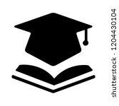 book with vector graduation cap ... | Shutterstock .eps vector #1204430104