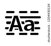 a text icon. vector text symbol ... | Shutterstock .eps vector #1204430134
