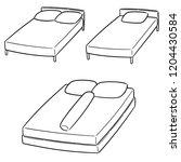vector set of bed   Shutterstock .eps vector #1204430584