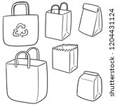 vector set of bag | Shutterstock .eps vector #1204431124