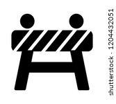 under construction barrier icon.... | Shutterstock .eps vector #1204432051