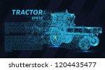 tractor of particles. tractor... | Shutterstock .eps vector #1204435477
