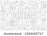 cinema background from line... | Shutterstock .eps vector #1204435717