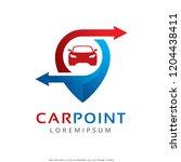 car point logo template design...   Shutterstock .eps vector #1204438411