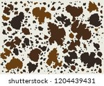 cow leather skin brown pattern. | Shutterstock .eps vector #1204439431