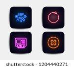 neon glow lights. set of atm ...   Shutterstock .eps vector #1204440271
