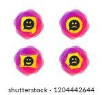 speech bubble smile face icons. ... | Shutterstock .eps vector #1204442644