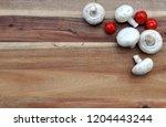 champignons mushrooms and...   Shutterstock . vector #1204443244