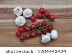 champignons mushrooms and...   Shutterstock . vector #1204443424
