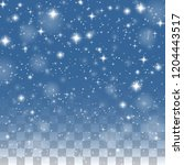 falling snow flake pattern...   Shutterstock .eps vector #1204443517