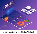 isometric vector. set of id...   Shutterstock .eps vector #1204450141