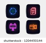 neon glow lights. set of...   Shutterstock .eps vector #1204450144