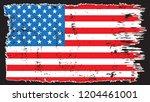 grunge usa flag.vintage... | Shutterstock .eps vector #1204461001