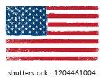grunge usa flag.vintage... | Shutterstock .eps vector #1204461004