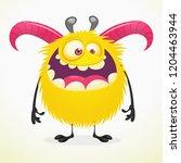 funny cartoon  monster... | Shutterstock .eps vector #1204463944