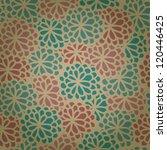 seamless decorative retro... | Shutterstock .eps vector #120446425