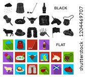 country scotland flat icons in... | Shutterstock .eps vector #1204469707