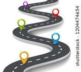 3d road infographic... | Shutterstock . vector #1204474654