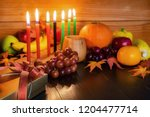 kwanzaa holiday concept with... | Shutterstock . vector #1204477714