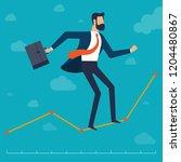businessman walking in balance...   Shutterstock .eps vector #1204480867