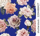 seamless floral pattern with... | Shutterstock . vector #1204488427