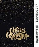 merry christmas custom... | Shutterstock .eps vector #1204503247
