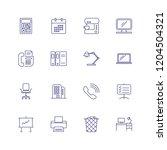 office equipment line icon set. ...   Shutterstock .eps vector #1204504321