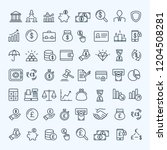 finance icons set | Shutterstock .eps vector #1204508281
